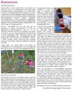 Gruß aus dem Kindergarten Gräfensteinberg